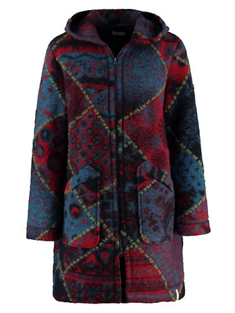 Casual Plus Size Hoodie Printed Coat Outerwear