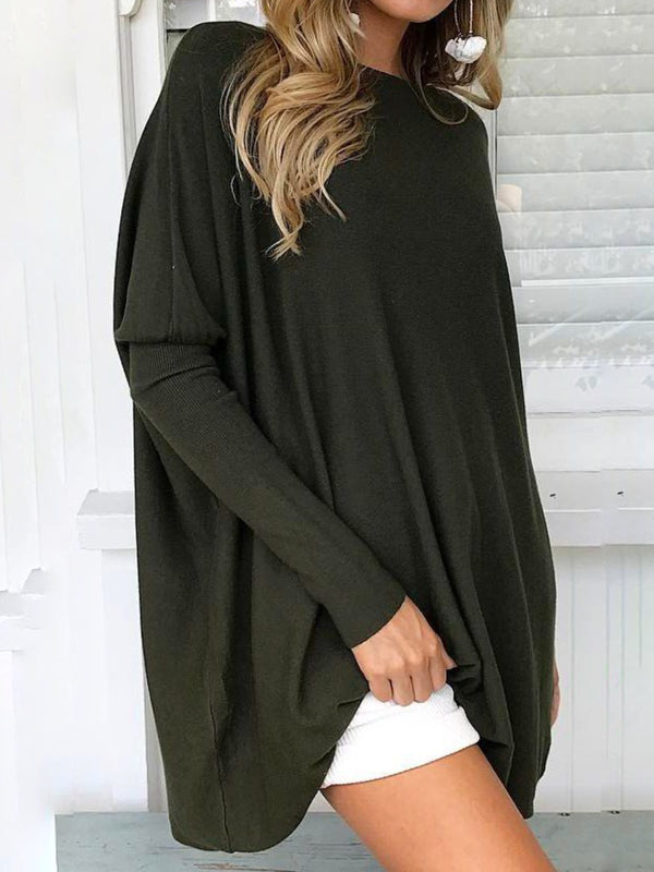 Women Casual Plus Size Tops Tunic Long Sleeve T Shirt