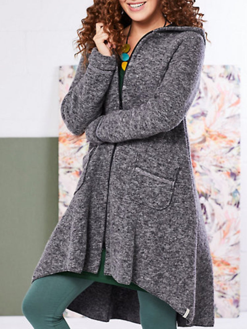 Casual Plus Size Long Sleeve Hoodie Outerwear Coat