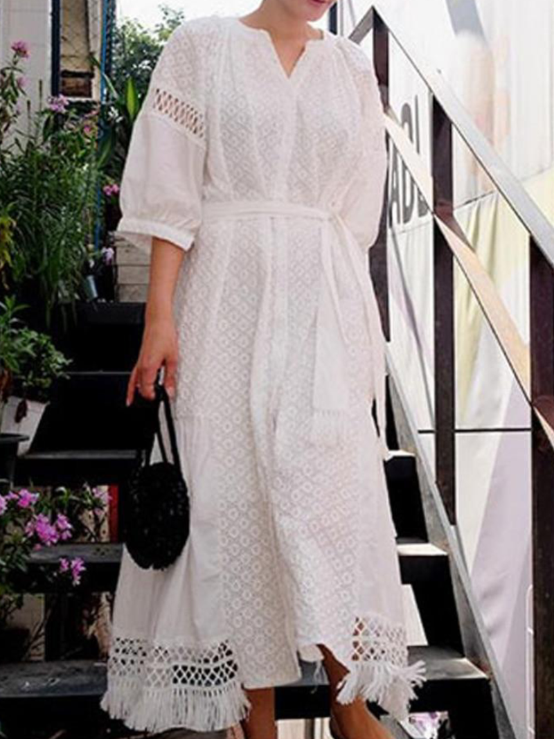 Summer Casual Lace Maxi Dresses