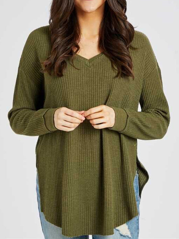 Casual Plus Size Long Sleeve Shirts Tops