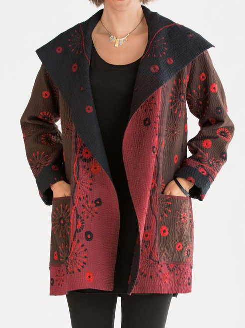 Plus size Cotton Long Sleeve Outerwear