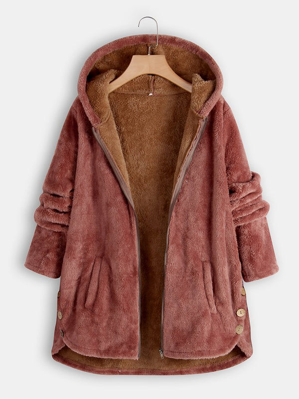 Long Sleeve Casual Outerwear Teddy Coat