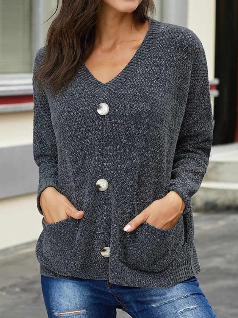 Casual Plus Size V Neck Sweater Outerwear