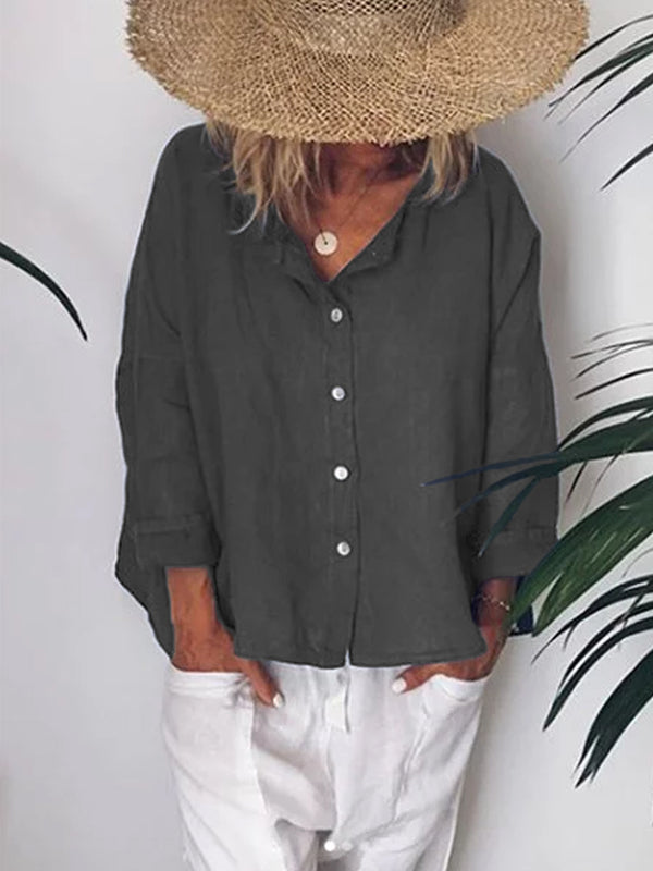 V Neck Casual Shirts & Tops