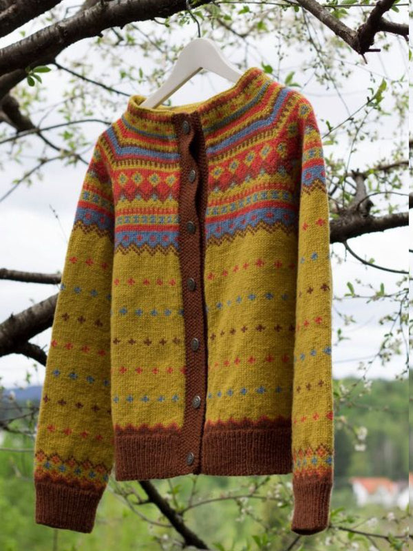Casual Plus Size Pattern Cardigan Outerwear