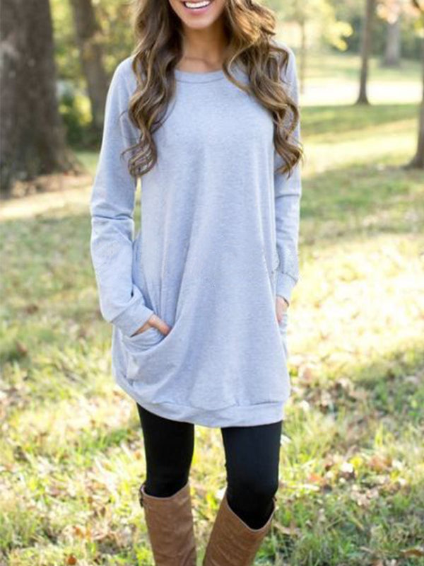Long simple casual sweatshirt
