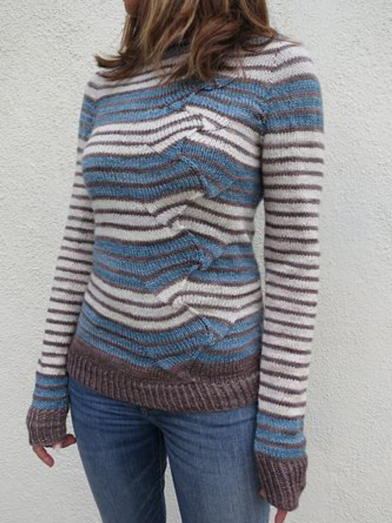 Casual Plus Size Round Neck Sweater Pullover