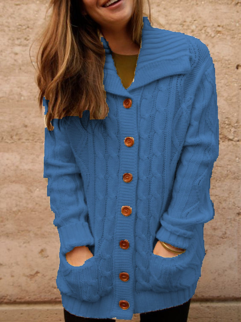 Casual Oversized Shawl Collar Cardigan Outerwear