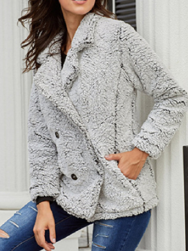 Casual Plus Size Long Sleeve Outerwear Coat
