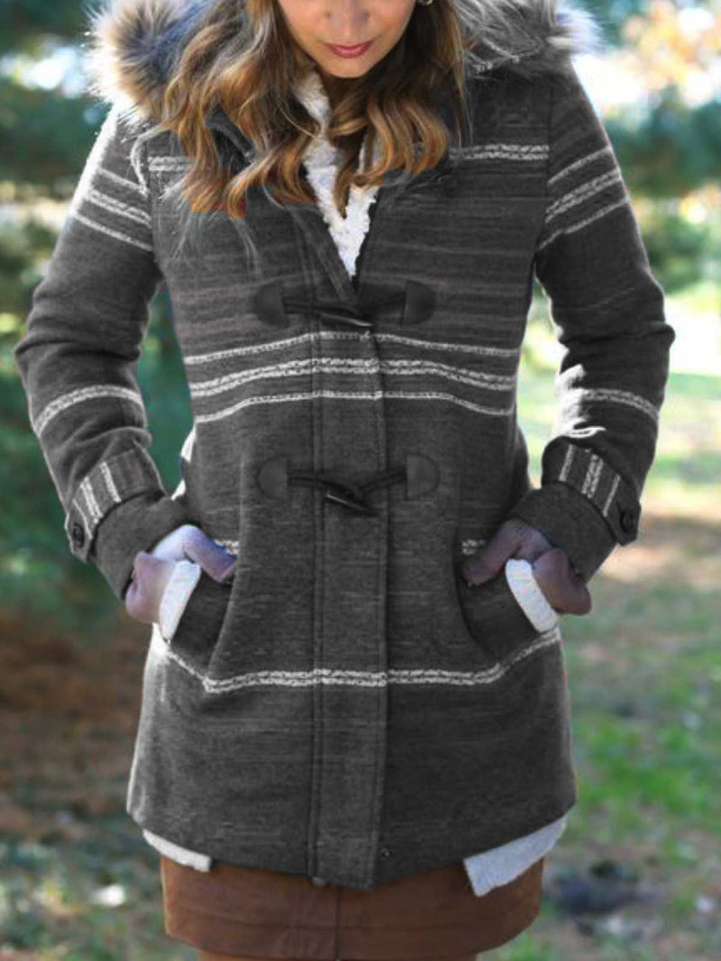 Casual Plus Size Hoodie Coat Outerwear