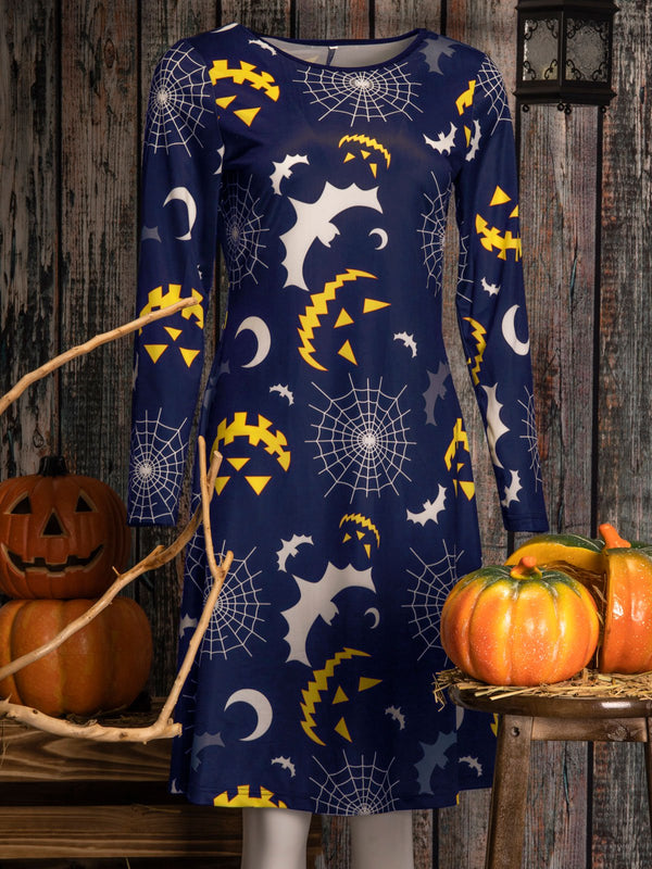 Abstract Long Sleeve Vintage Dresses