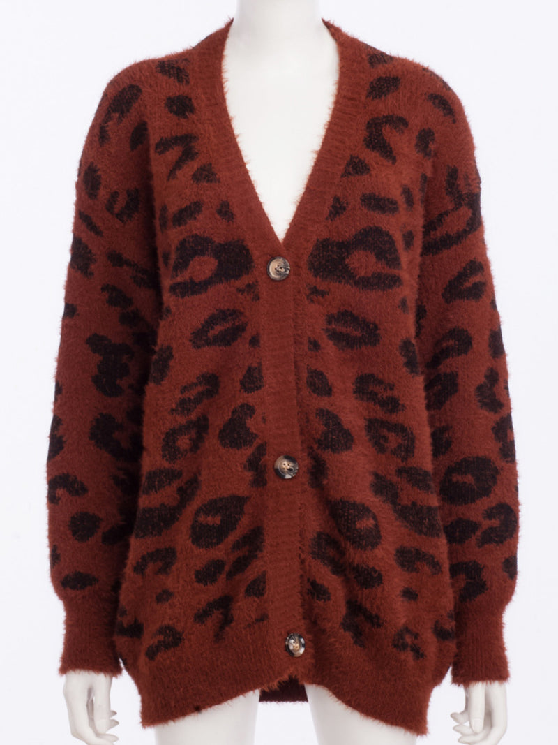 Casual Plus Size V Neck Cardigan Outerwear