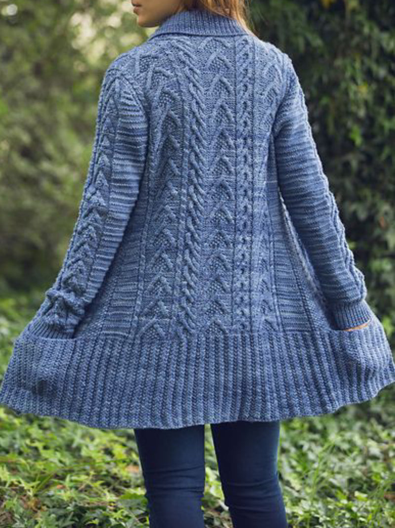 Womens Casual Plus Size Knitted Cardigan
