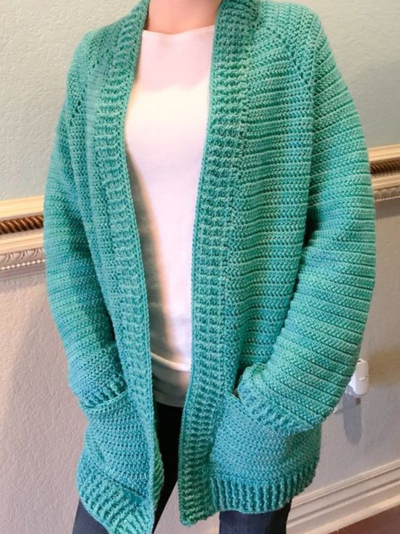 Womens Casual Plus Size Knitted Cardigan Coat