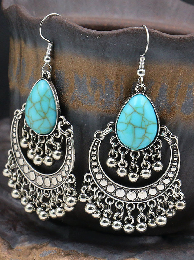Blue Red Boho Vintage Elegant Earrings