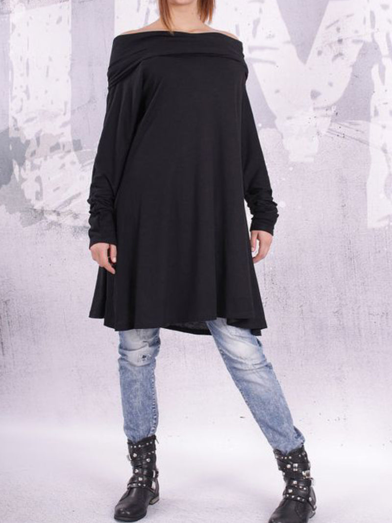 Women Casual Plus Size Tops Tunic Cowl Neck Blouse Shirt