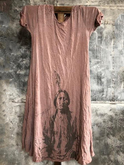 Women Printed Tee Dress Tunic