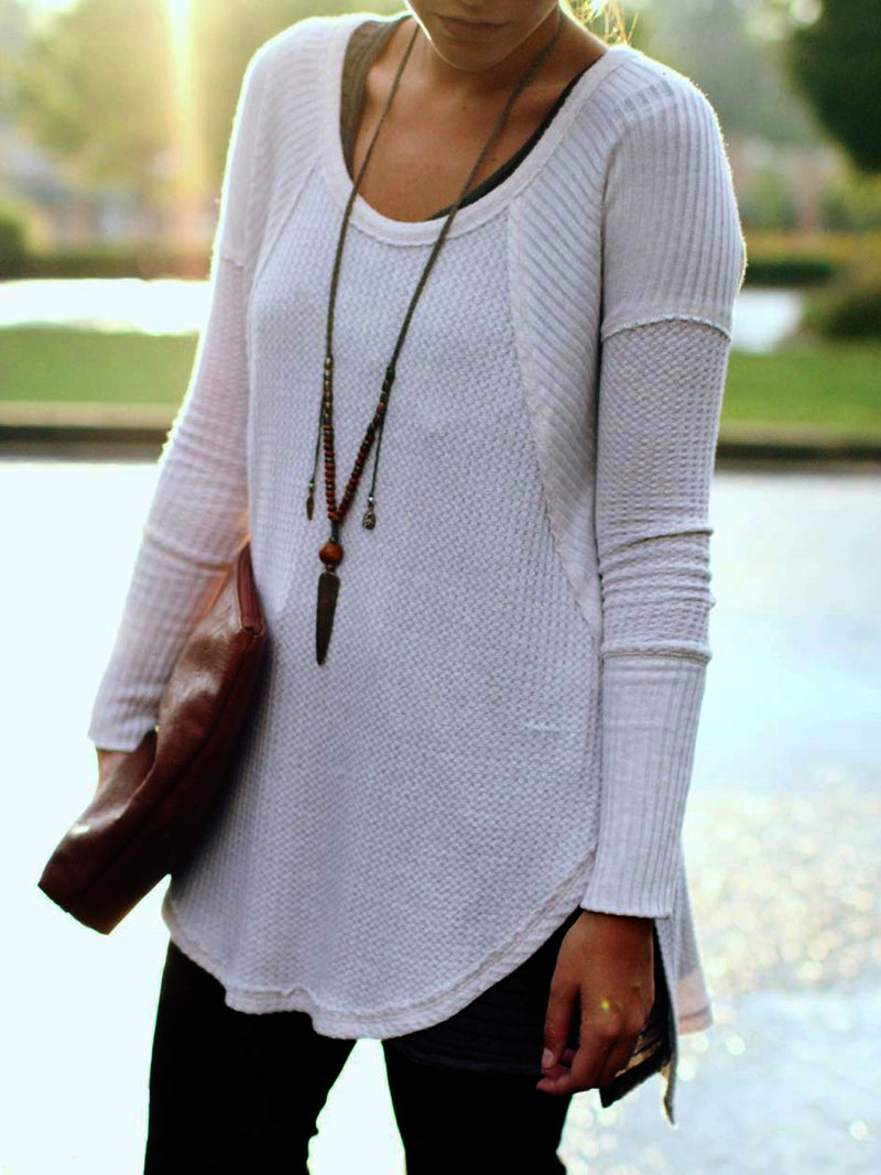 Casual Plus Size Long Sleeve Tee T Shirts