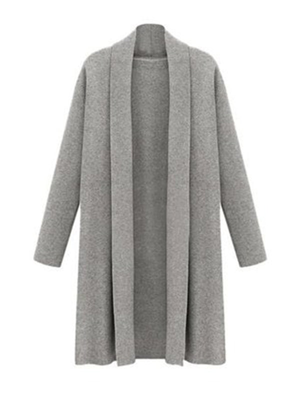Women's Open Front Trench Coat Long Cloak Cardigan