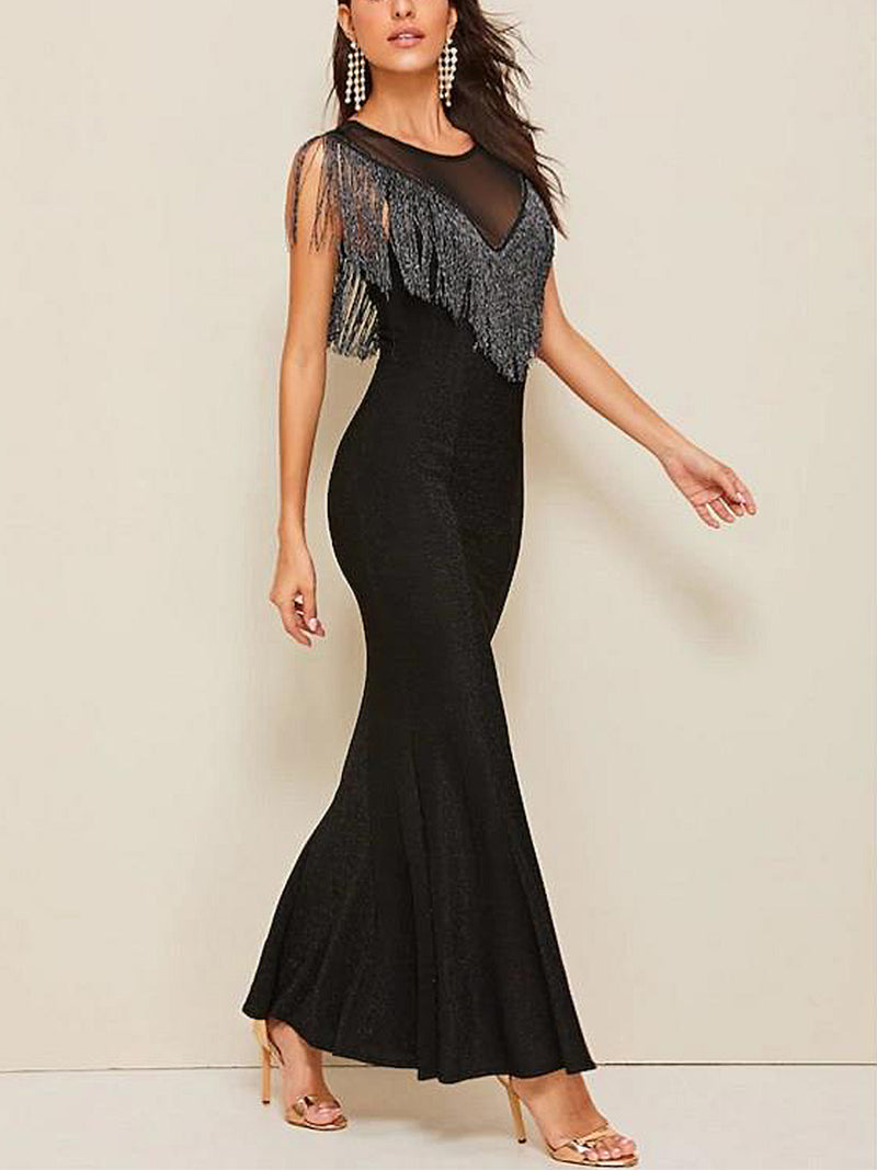 Black Dresses Mermaid Party Dresses
