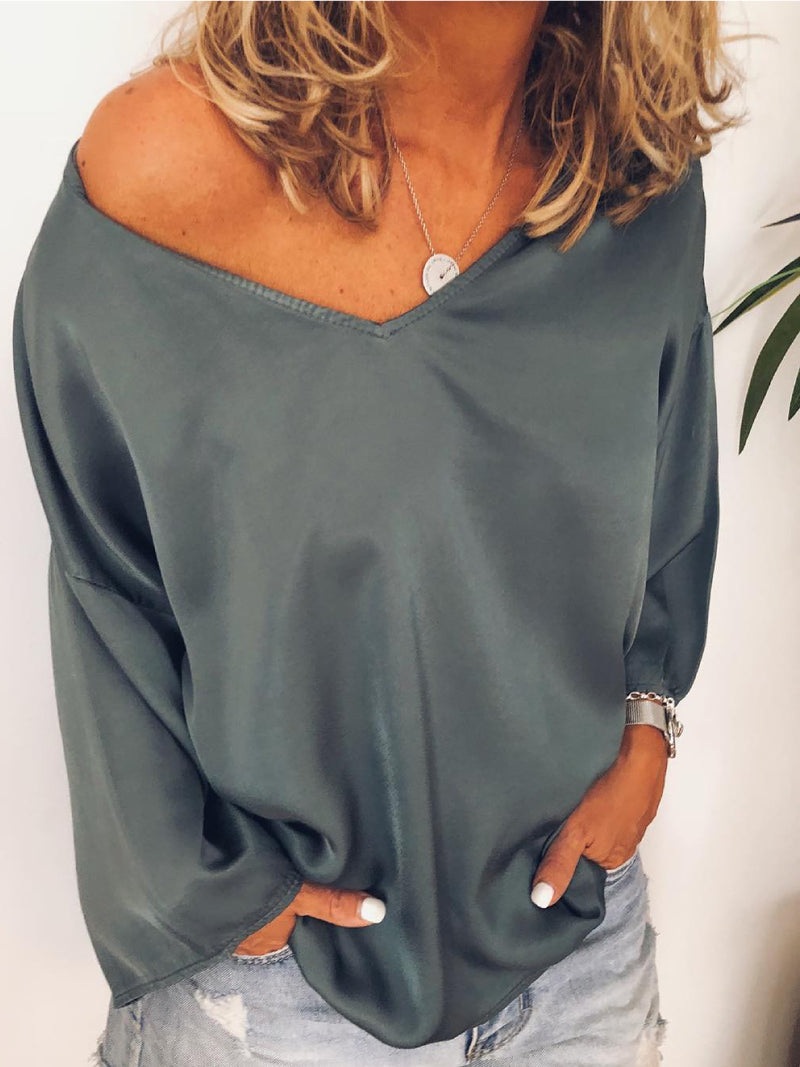 Grey Casual Cotton Shirts & Tops