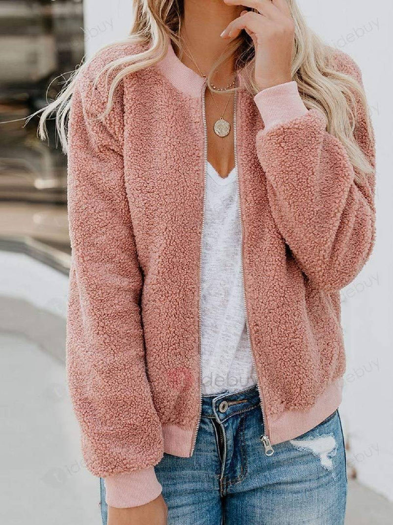 Faux Fur Long Sleeve Outerwear