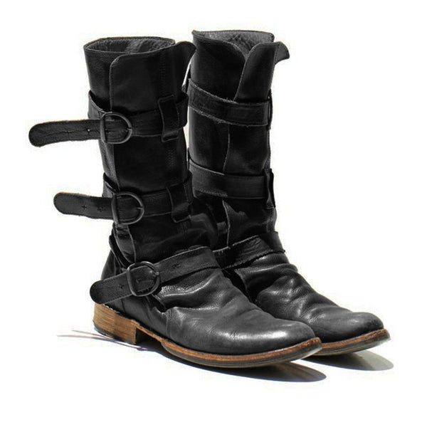 Women's Vintage Low Heel Boots