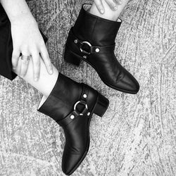 Vintage Daily Chunky Heel Pu Ankle Boots