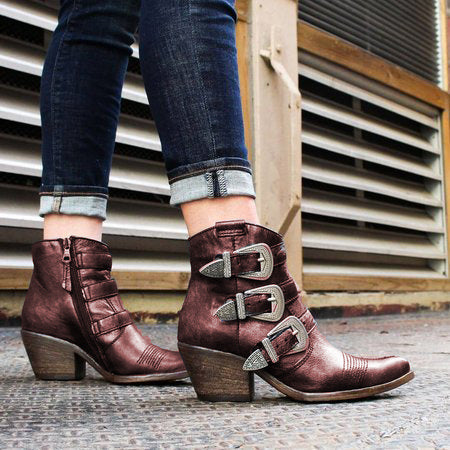 Chunky Heel  All Season Boots