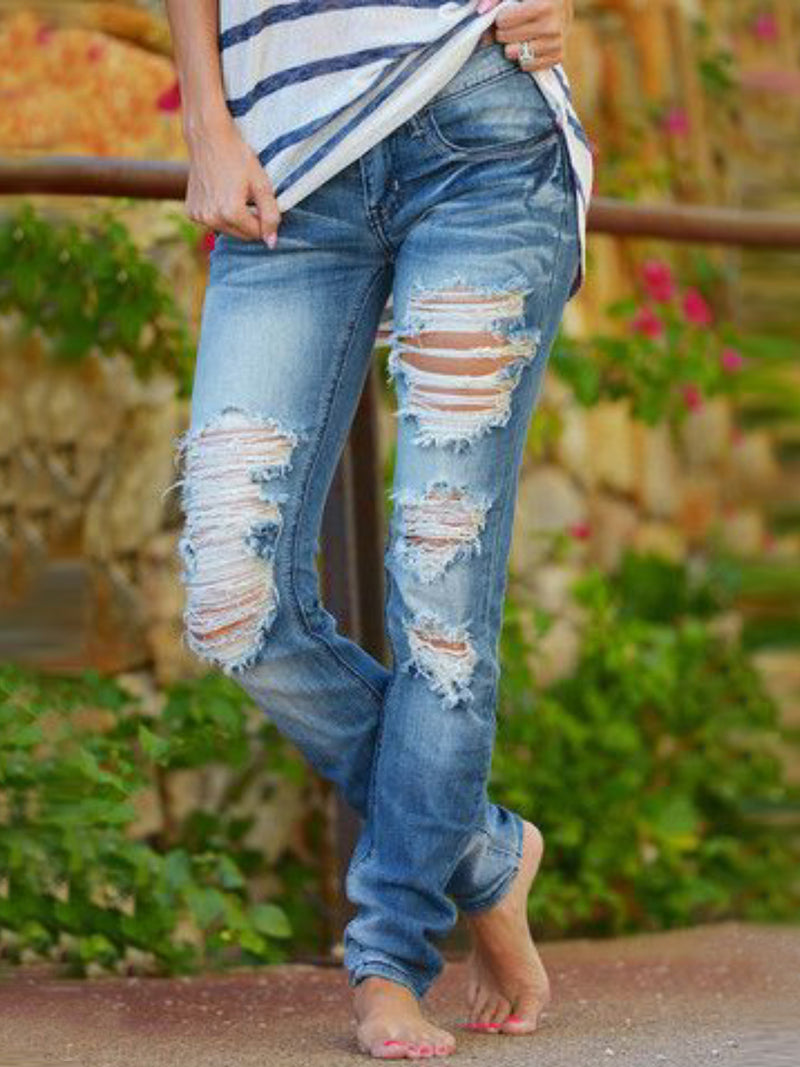 Blue Denim Holiday Pants