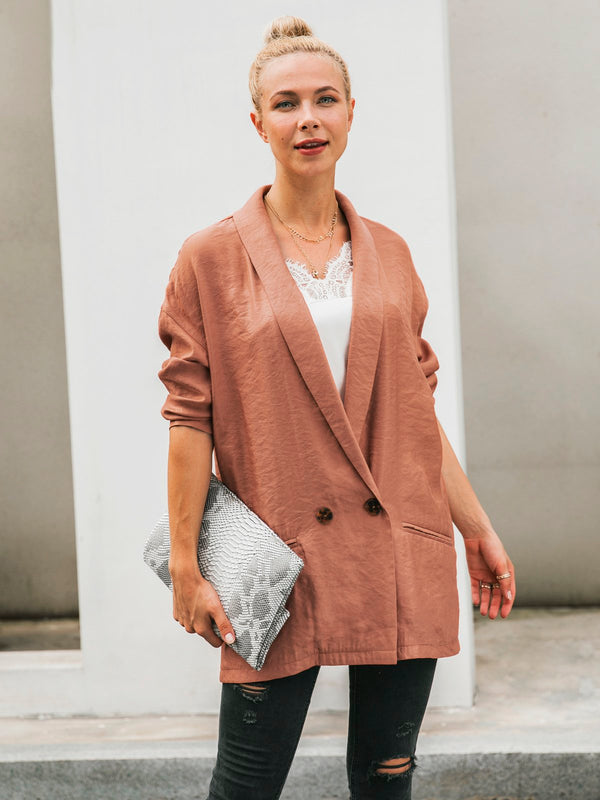 Buttoned Daily Holiday Outerwear