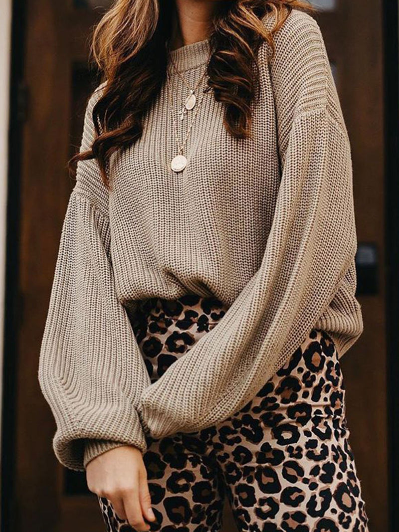 Plus size fall Cotton Casual Sweater