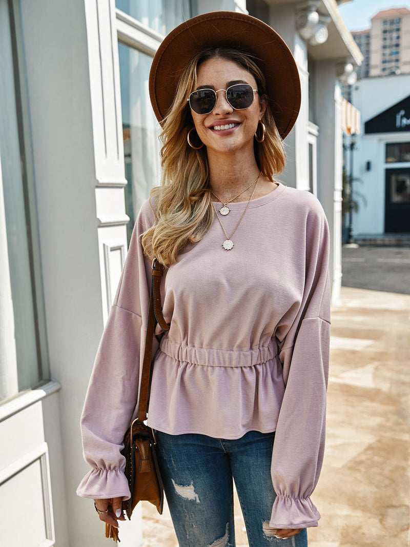 Pink Casual Copper Wire Shift Shirts & Tops