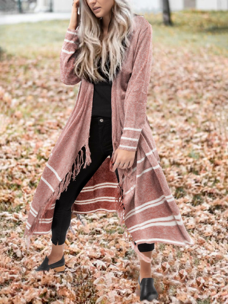 Plus Size Casual Knitted  Long Sleeve Cardigans