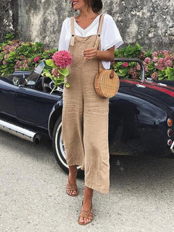 Women Vintage Women Sleeveless Casual Jumpsuit Bodysuits Pants Overalls