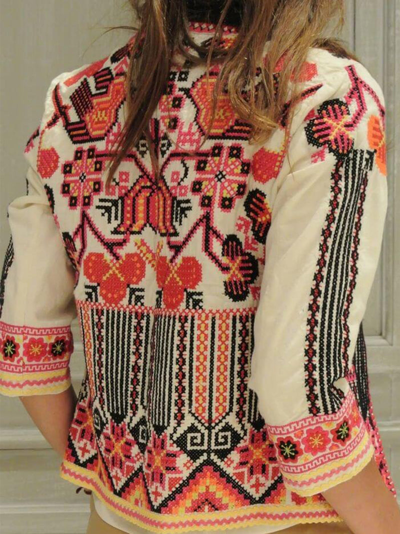 Plus Size Long Sleeve Floral Boho Printed Outerwear