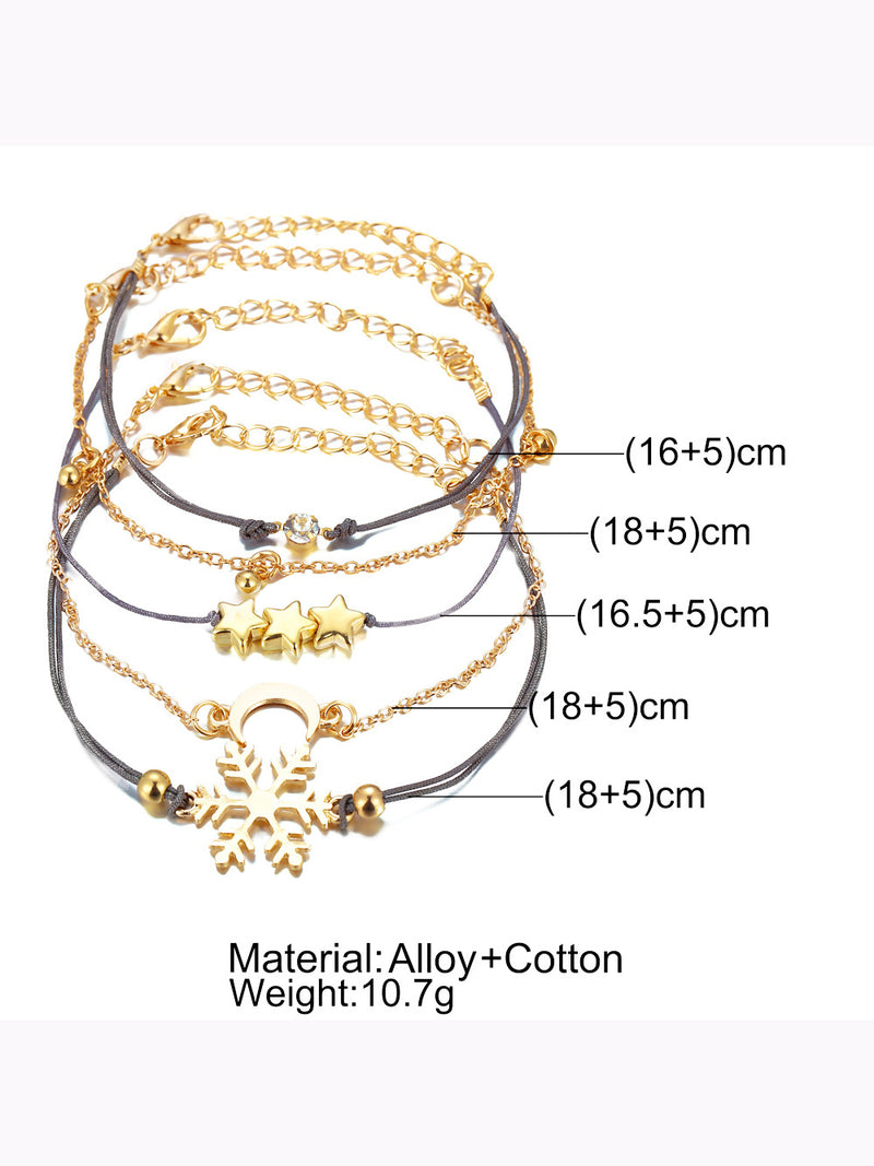 Golden Alloy Casual Bracelets