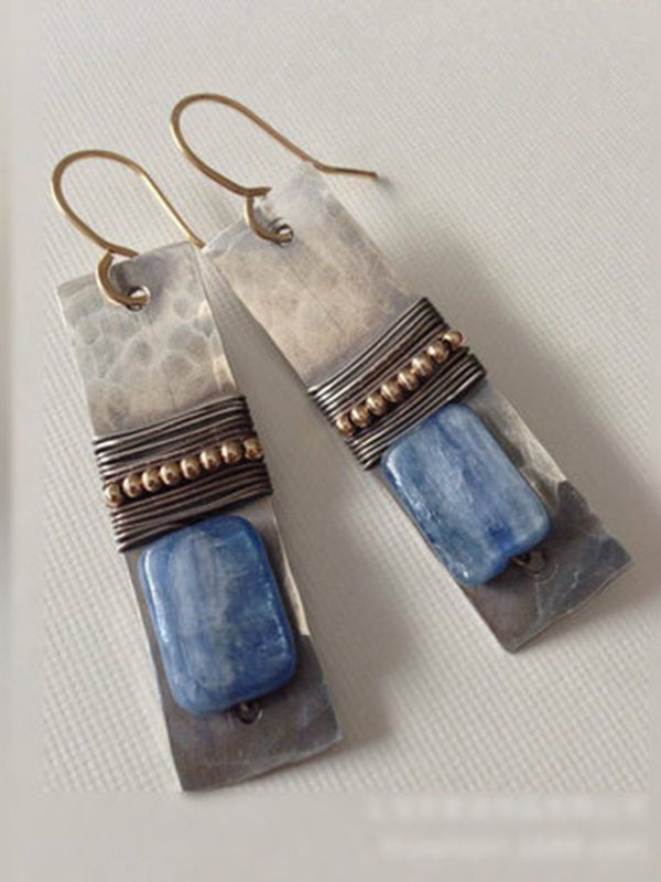 Blue Alloy Earrings