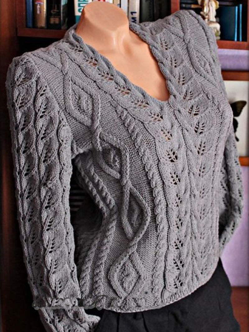 Sweater plus size Knitted Casual Shirts & Tops