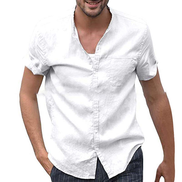 Cotton Stand Collar Shirts & Tops