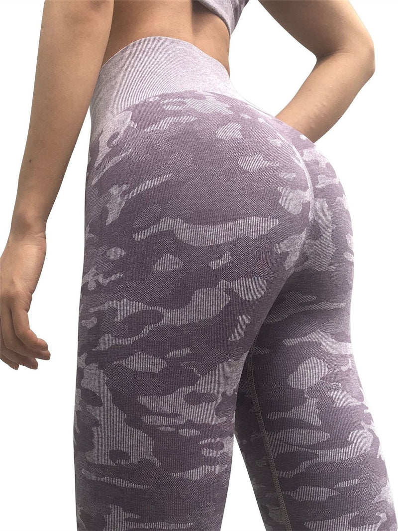 Camouflage fitness exercise pants