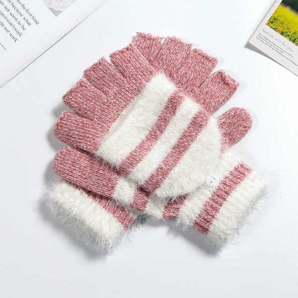 Warm Half Finger Flip Dual-purpose Gloves