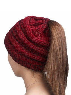 Woman Knitting Wool Earpiece Cap Hats
