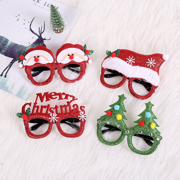 Christmas Decoration Glasses Frame