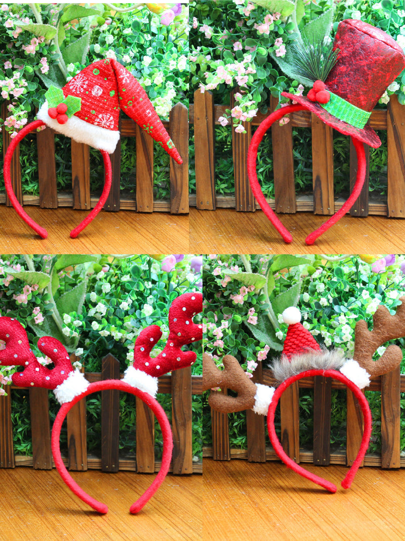 Xmas Christmas Headbands Giraffe Snowman Santa Deers Hair Hoops for Party