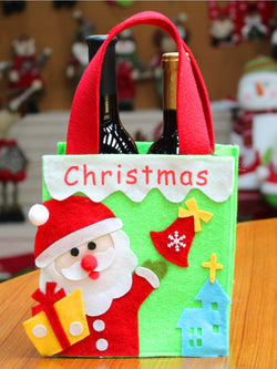 Christmas Reusable Grocery Shopping Xmas Party Supplies Bags
