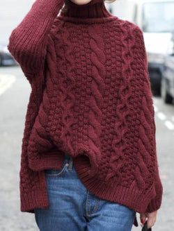 Casual Long Sleeve Turtleneck Sweater