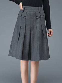 Plus Size Vintage Solid Skirts