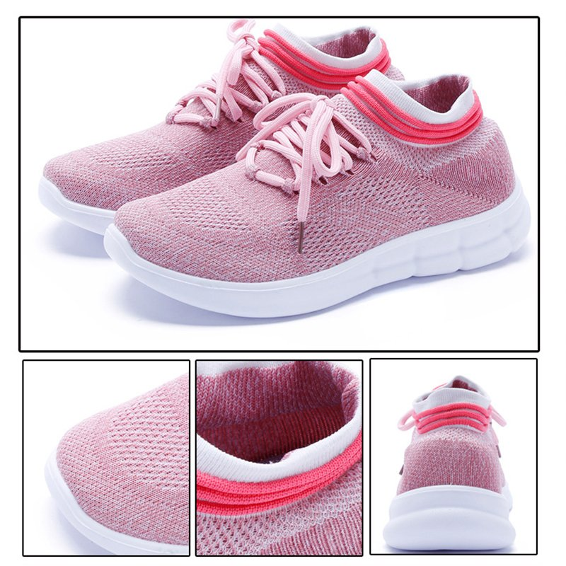 Women's Mesh Fabric All Season Lace-Up Casual Sneakers